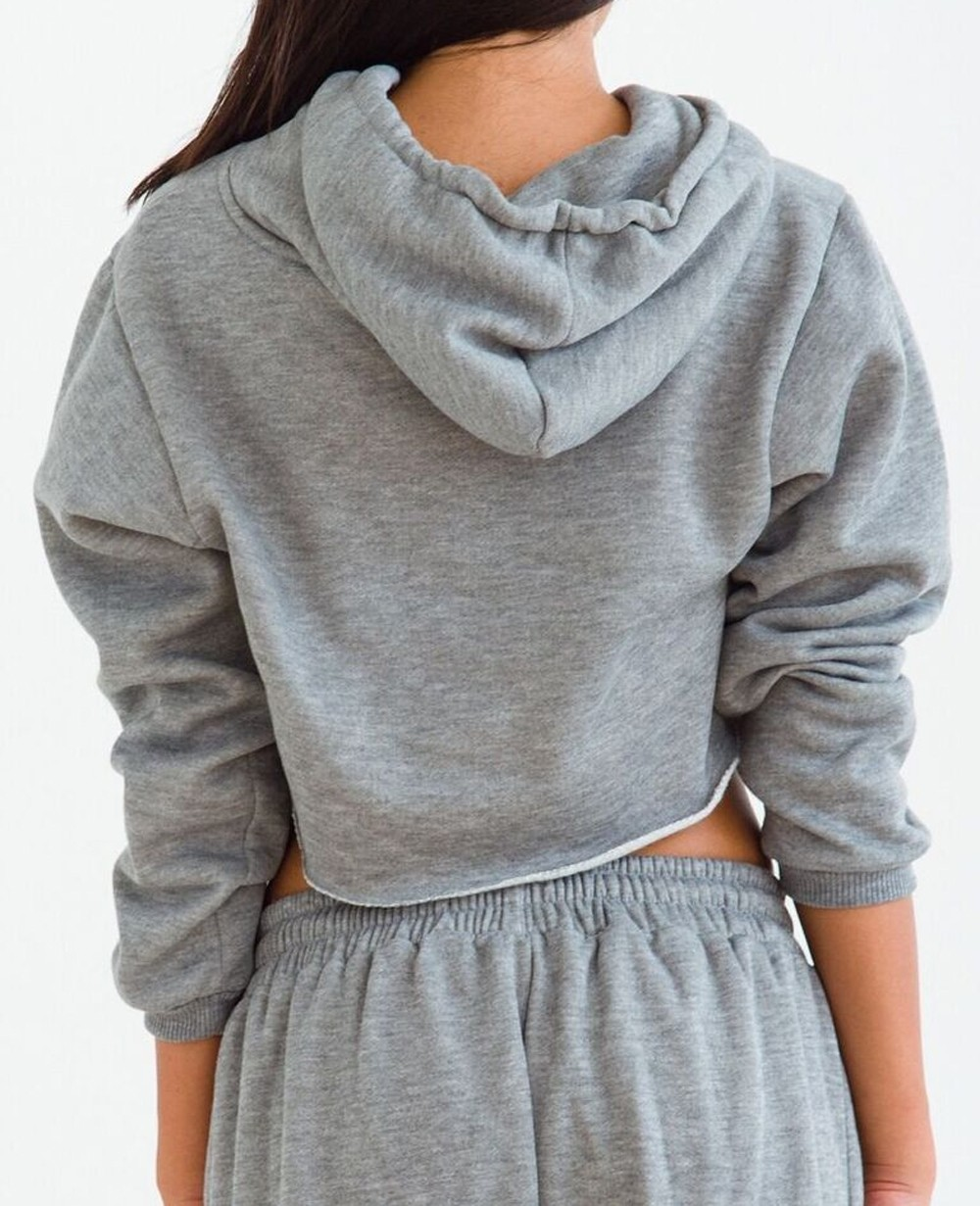 bad3a4acd66 Heather Grey Sweatsuit for Girls, R1-15007